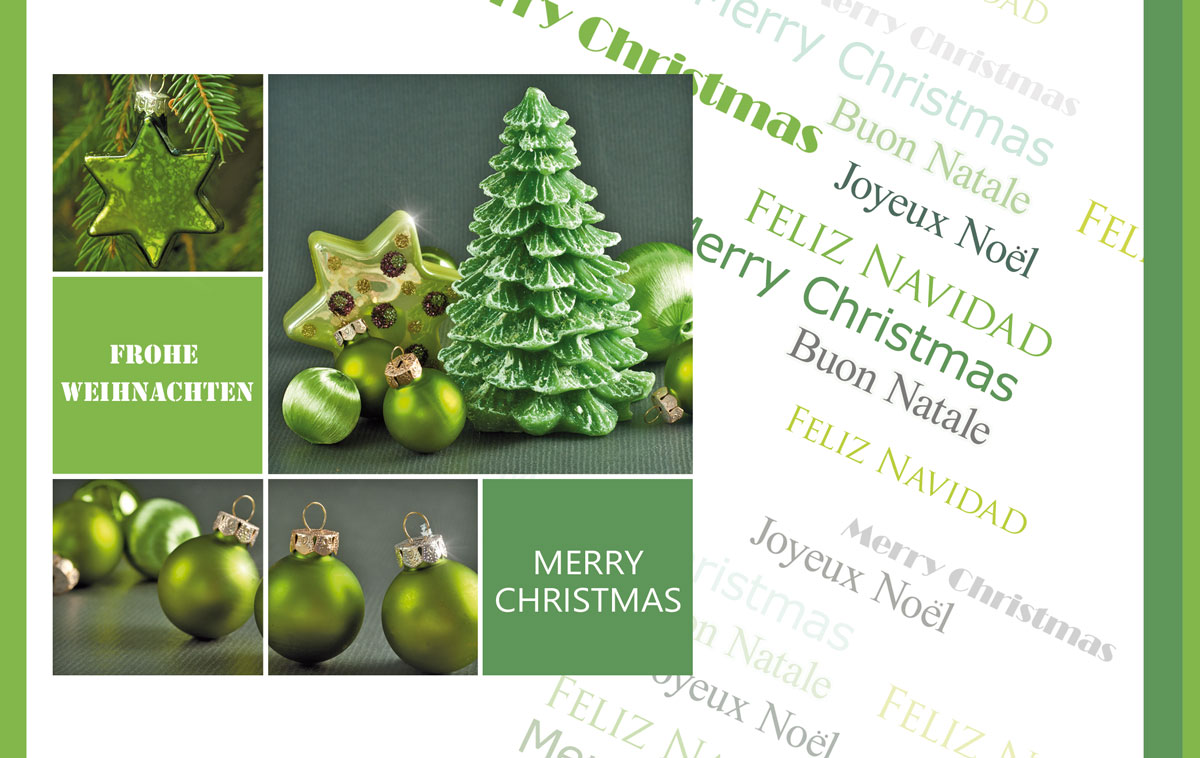 Kataloge Für Weihnachtsdeko.Grüne Weihnachtsdeko Außergewöhnliche Weihnachtskarten Für Firmen