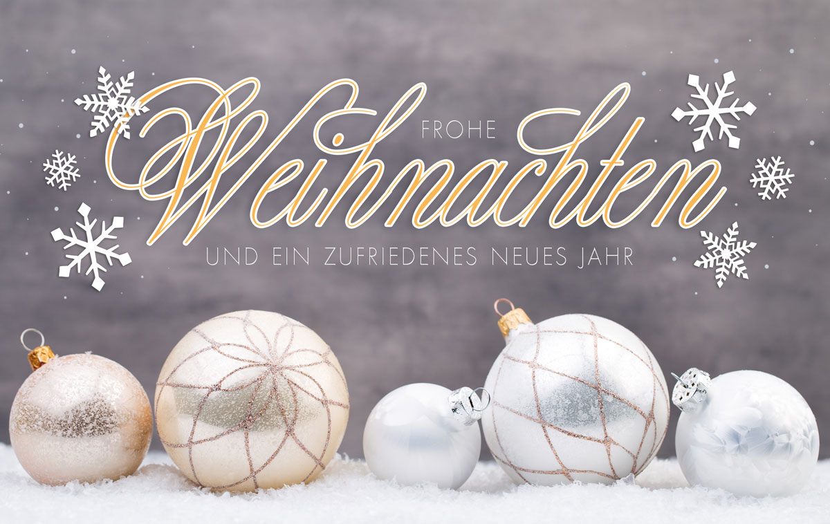 Stilvolle Christbaumkugeln Außergewöhnliche Weihnachtskarten Für