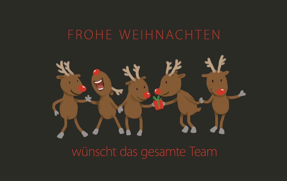 teamkarte reindeer au ergew hnliche weihnachtskarten f r. Black Bedroom Furniture Sets. Home Design Ideas