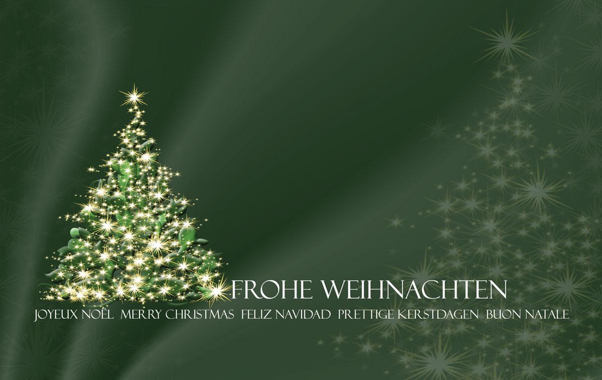 Es funkelt grün - Außergewöhnliche Weihnachtskarten für Firmen