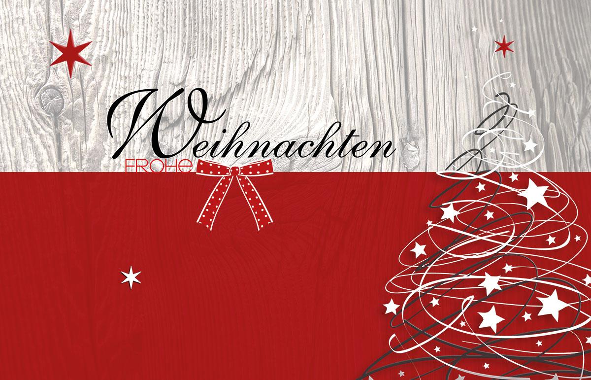 baum mit schleife au ergew hnliche weihnachtskarten f r. Black Bedroom Furniture Sets. Home Design Ideas