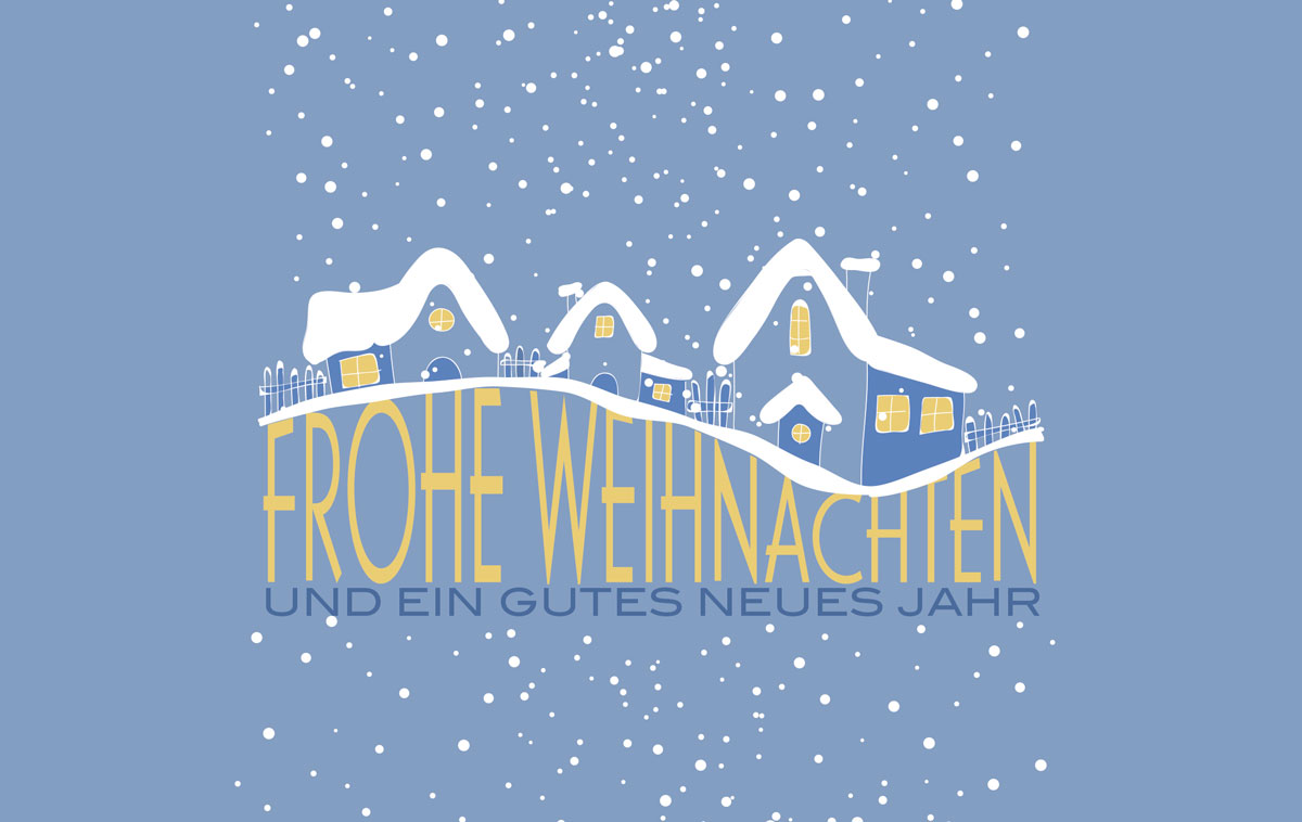In Schnee gepackt - Außergewöhnliche Weihnachtskarten für Firmen