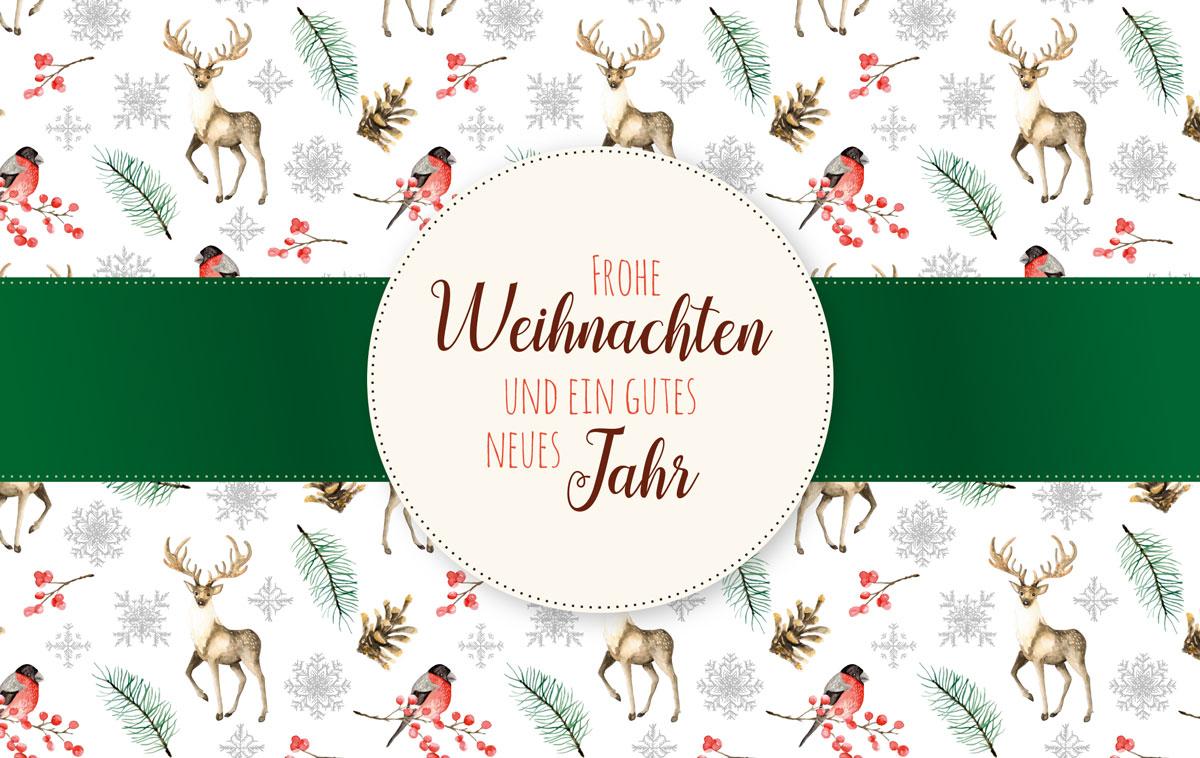 Weihnachtskarten Muster.Muster Mit Hirsch Außergewöhnliche Weihnachtskarten Für Firmen