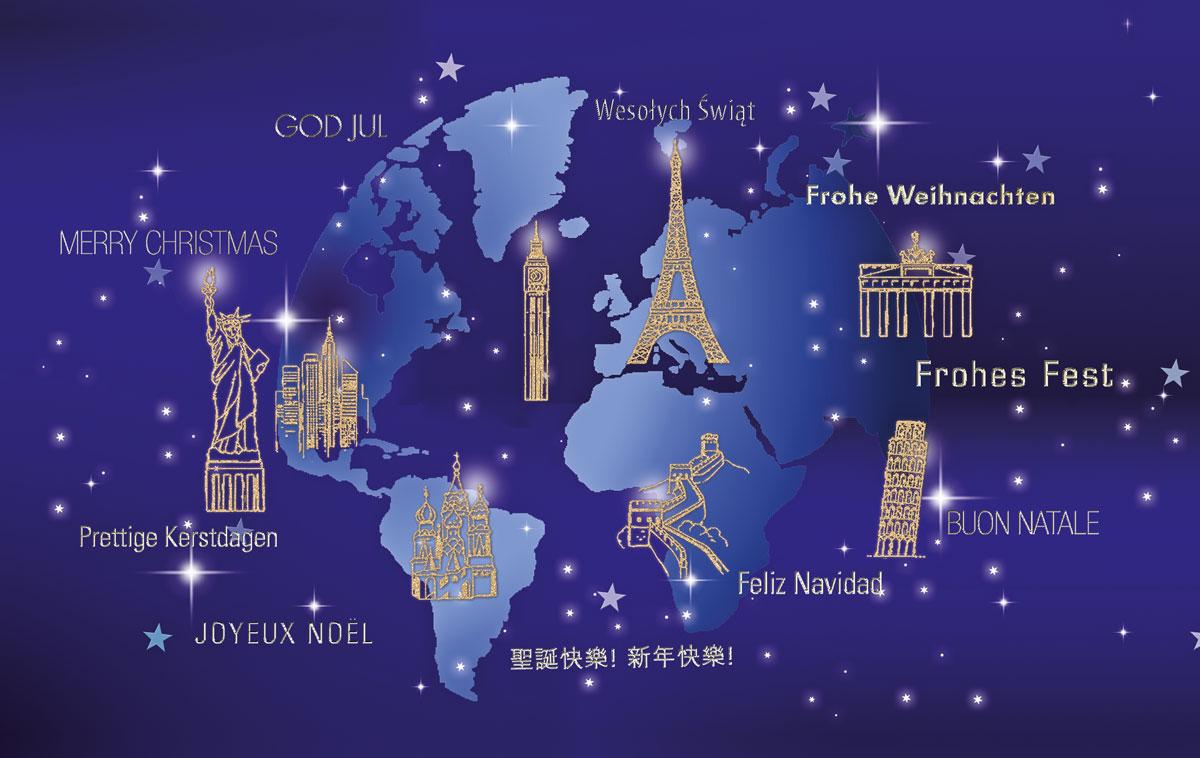 internationale karte au ergew hnliche weihnachtskarten. Black Bedroom Furniture Sets. Home Design Ideas