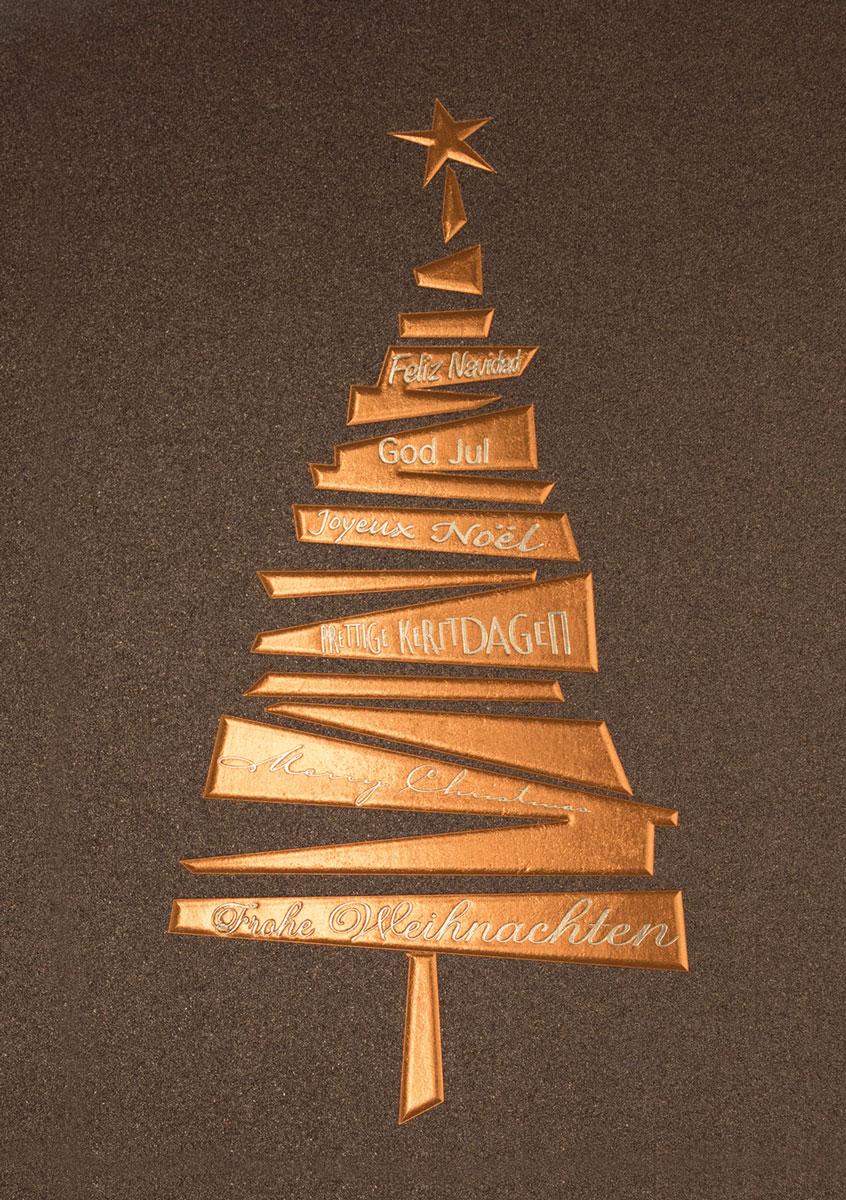 kupferbaum au ergew hnliche weihnachtskarten f r firmen. Black Bedroom Furniture Sets. Home Design Ideas