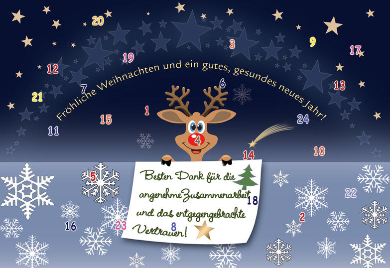 Weihnachtskarte: Red Nose Greetings