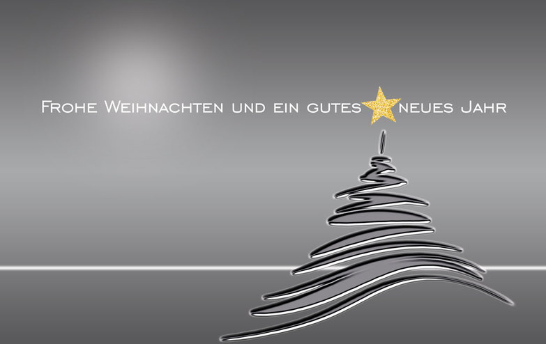 Weihnachtskarte: Silver and gray