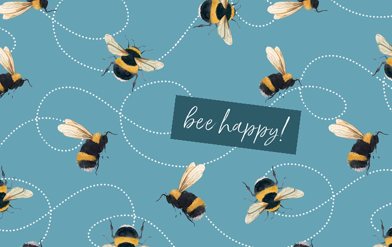 Grußkarte: Bee Happy