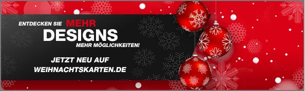 Selbst gestalten und schnell geliefert - weihnachtskarten.de